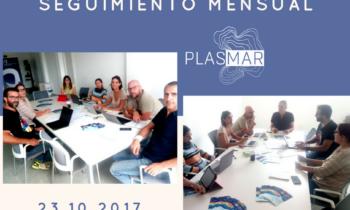 REUNIÓN DE SEGUIMIENTO MENSUAL DEL PROYECTO PLASMAR Taliarte. Gran Canaria. 23/10/2017