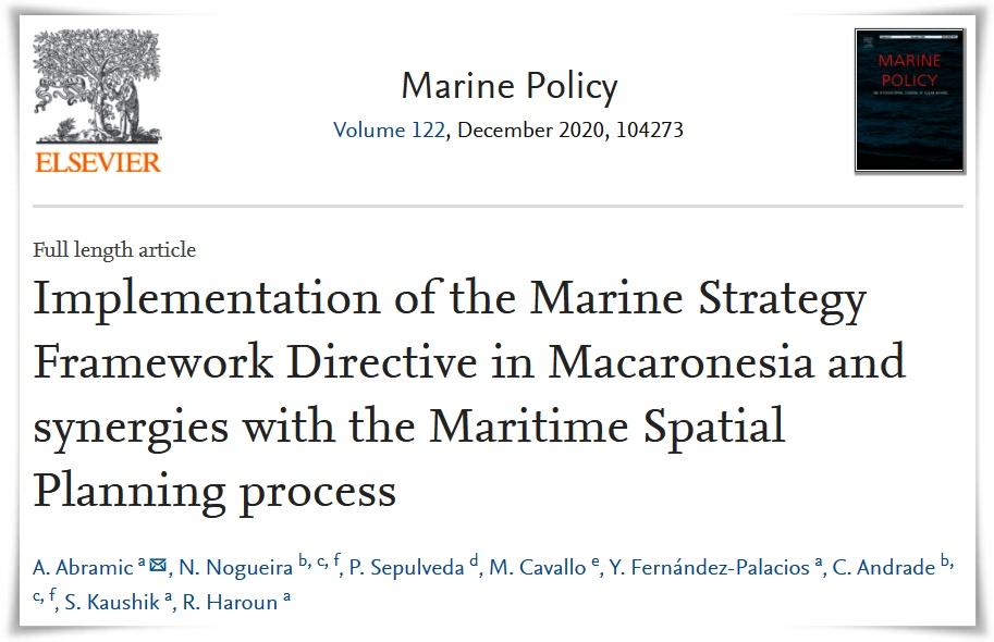 Marine Policy PLASMAR